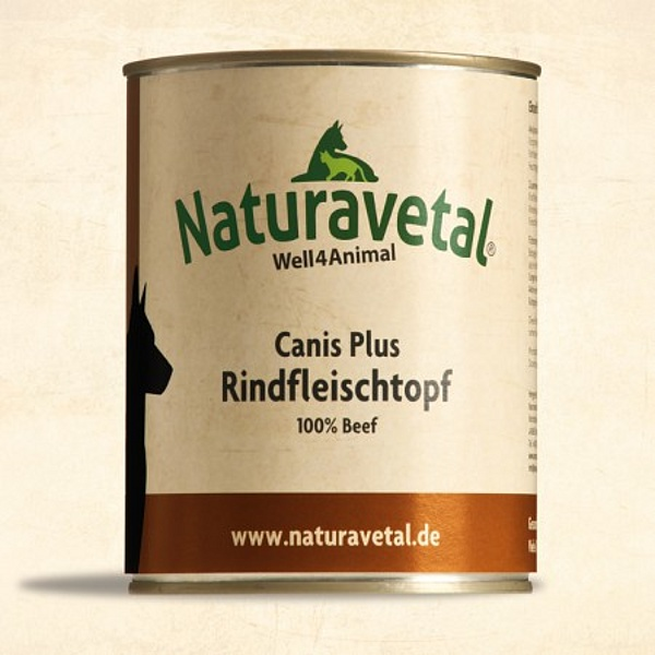 Naturavetal Canis Plus Rindfleischtopf